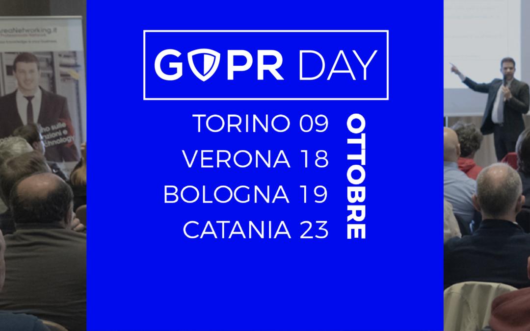 Ritorna GDPR Day: da nord a sud per formare sul GDPR
